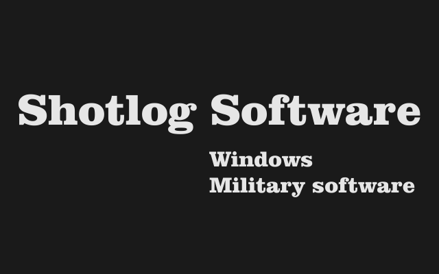 Shotlog Software